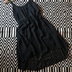 Xhilaration black high and low dress